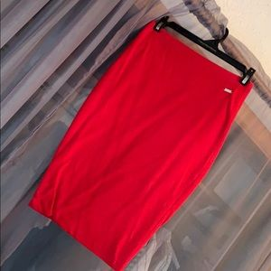 Red Guess skirt
